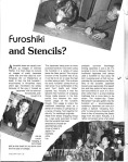 Furoshiki and Stencils? (published in Nagoya Eyes magazine)