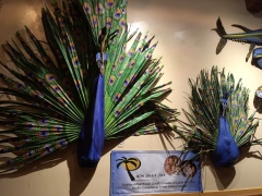 Palm fronds art at Jacksonville Zoo